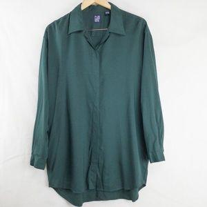 Gap green boyfriend button down shirt